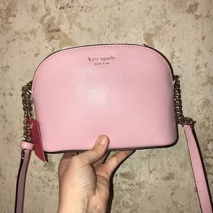 Pale Pink small dome crossbody